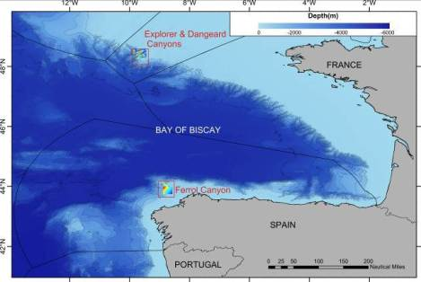 Map of the areas we will be studying on this research cruise.